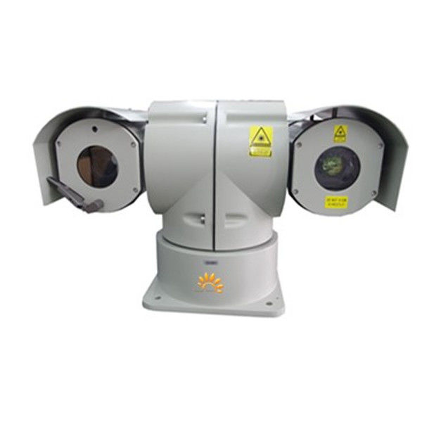 Car Mounted PTZ Laser Camera / Cooled Thermal Camera 30X Optical Zoom For Police Patrol