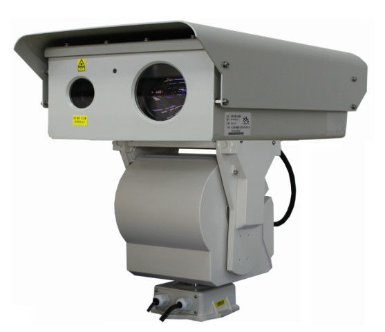 Border Surveillance PTZ Infrared Camera , Long Range CMOS Laser Camera